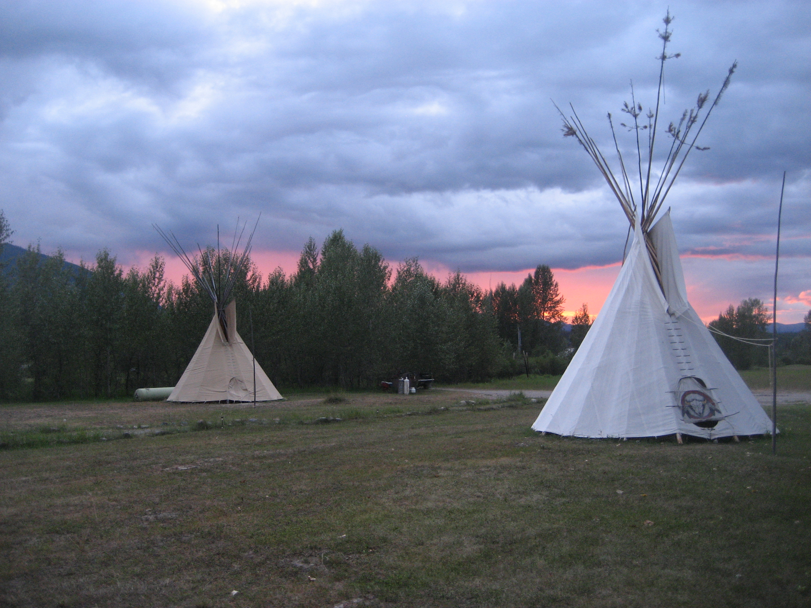 Tipis and Cabins
