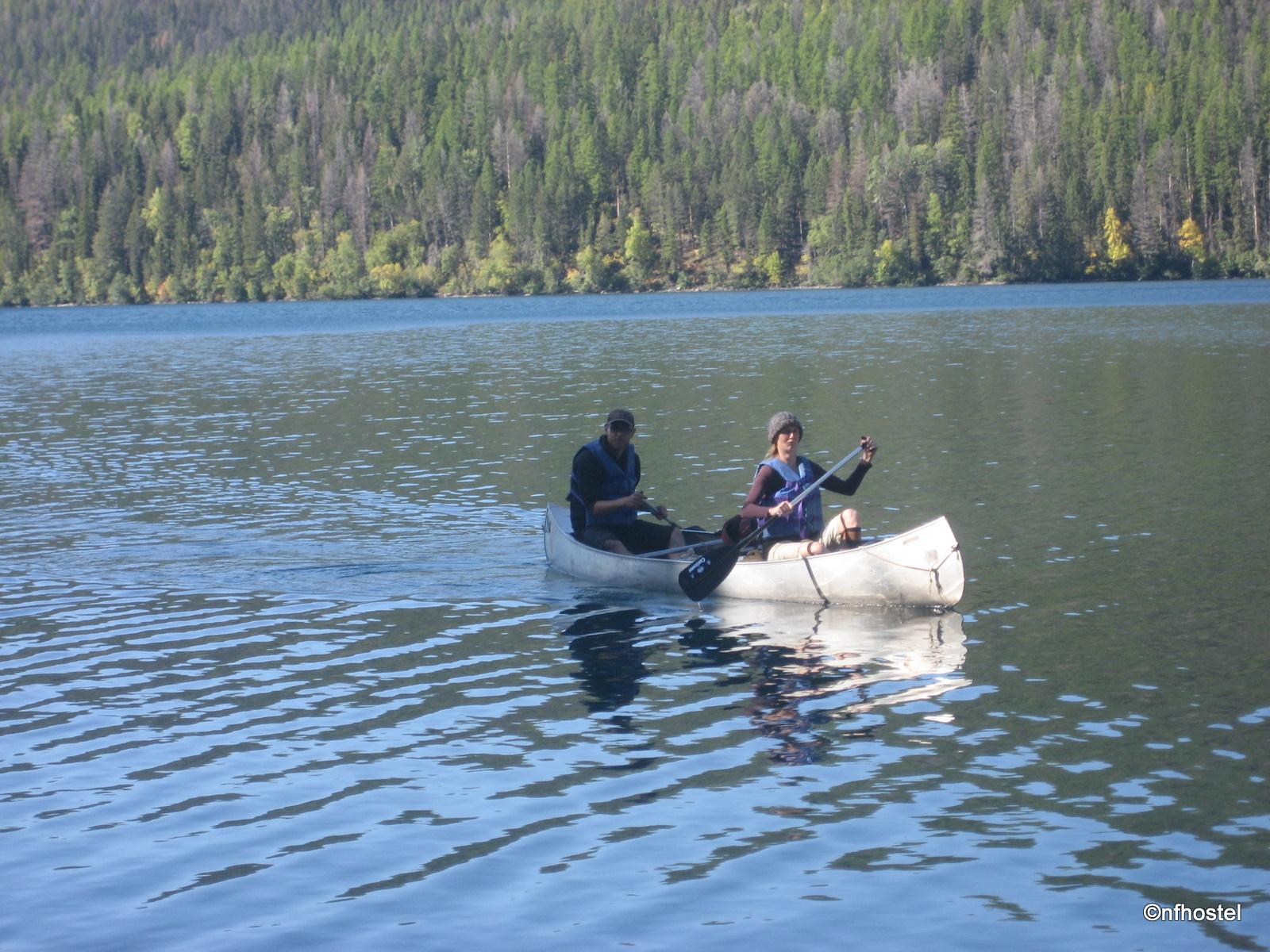 Sarah and Marco on Kintla Lake