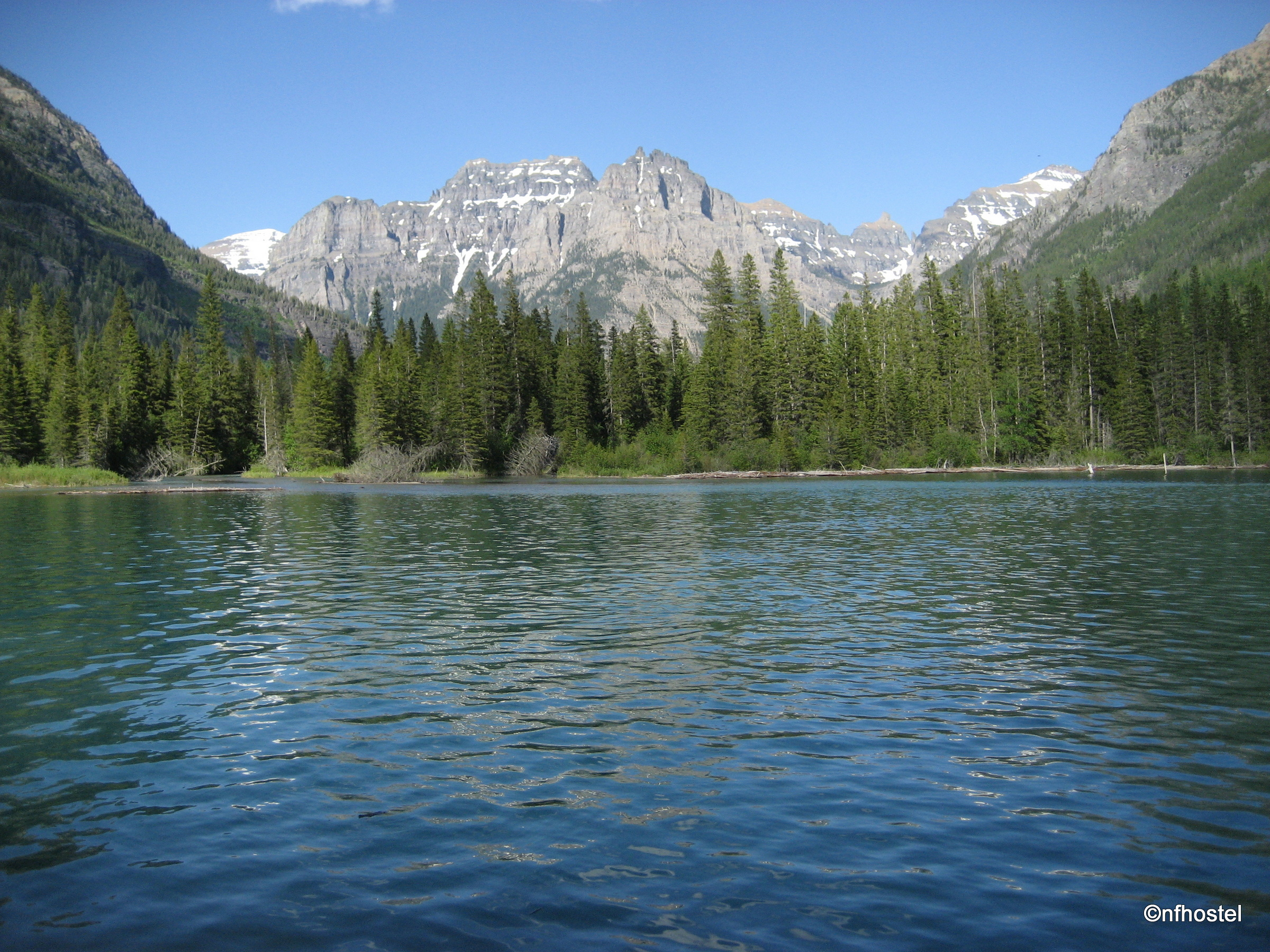 head of Bowman Lake