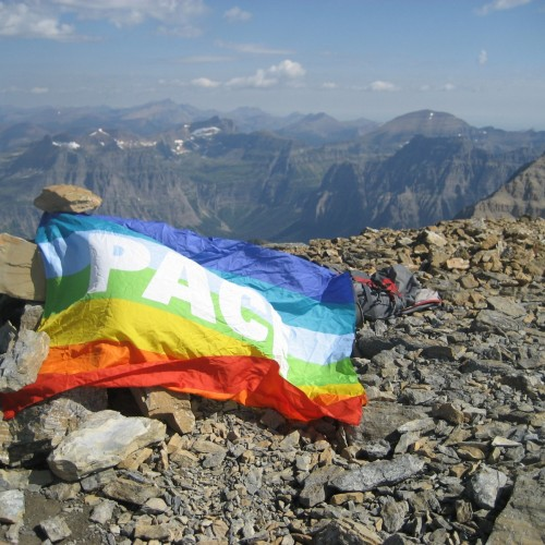 Rainbow Flag on Rainbow Peak
